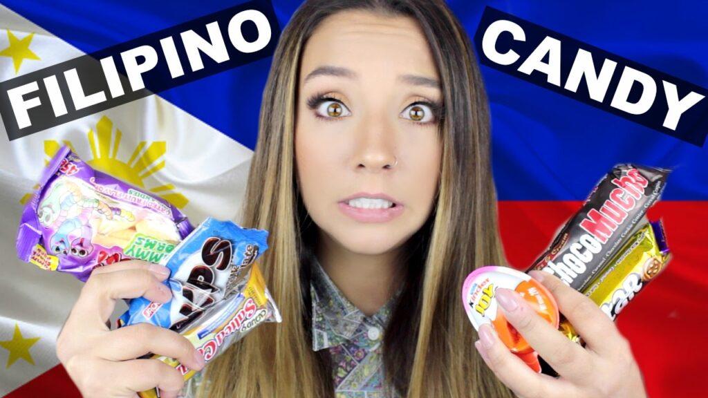 British Girl Tries Filipino Candy | ThoseRosieDays