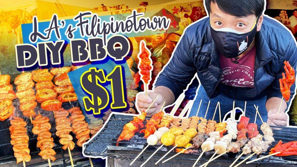 FILIPINO FOOD TOUR in LA's Filipinotown! DIY BBQ & Best STREET FOOD
