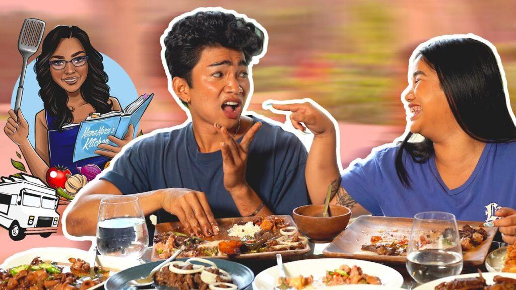 Filipino Food *GALORE* Mukbang – Moms Foodtruck is here