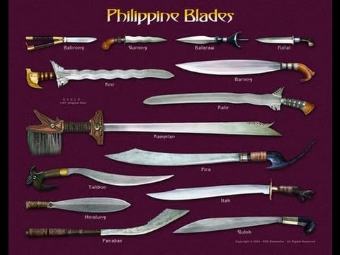 Filipino Kali Weapons Barong Kris Kampilan