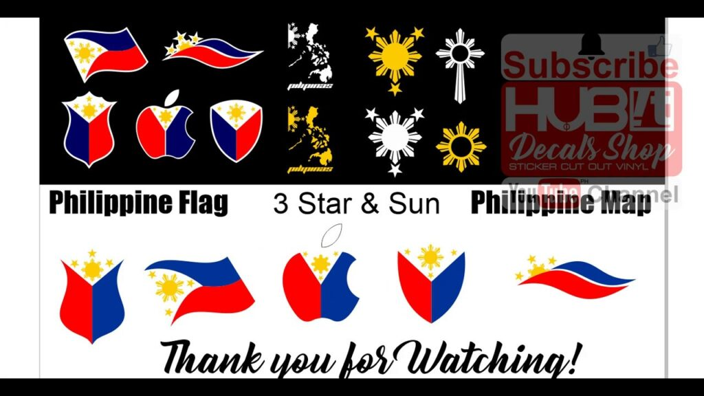 How to create CUSTOMIZED & PERSONALIZED PHILIPPINE FLAG STICKER LAYER