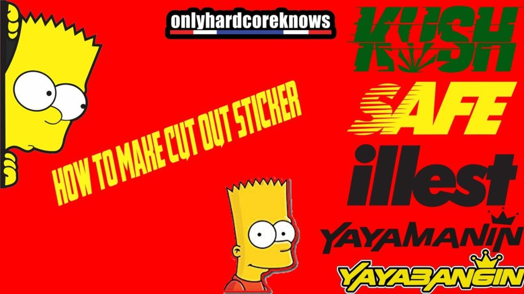How to make a cut out sticker|FREE TEMPLATE(FILIPINO)