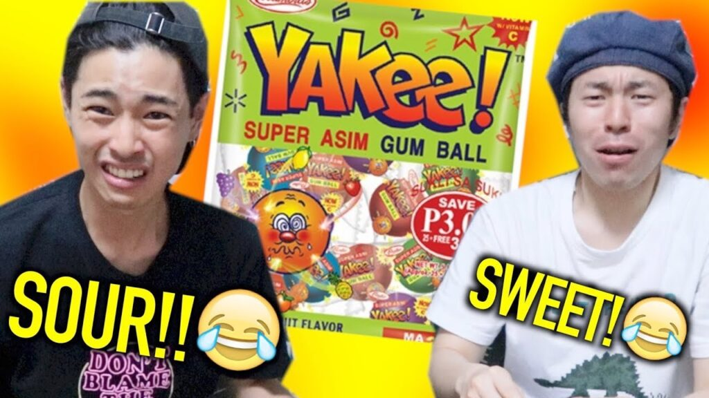 JAPANESE TRIES SUPER SOUR FILIPINO CANDY!!【YAKEE】