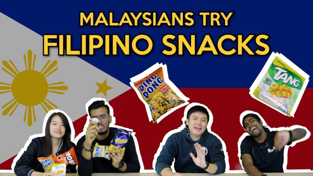 Malaysians Try Filipino Snacks