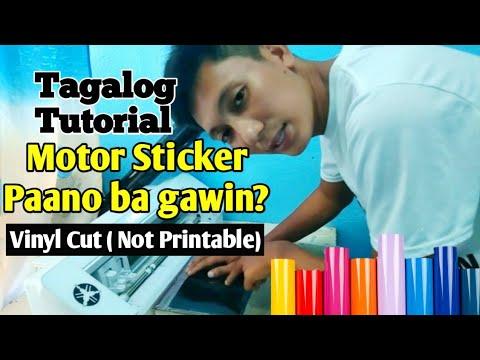 Motor Sticker | Vinyl Sticker| Tagalog Tutorial Pantin Couple