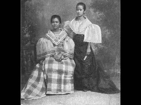 Native Filipino's Images in Late 1800s- Early 1900s / Traditional Baro't Saya / Filipiniana Dress