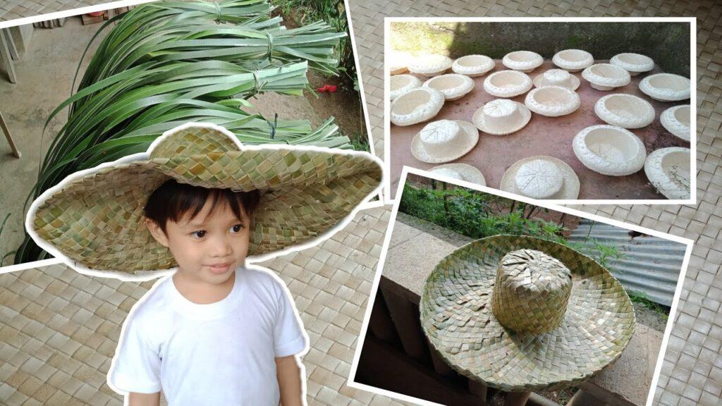Native Hat made from Pandan leaves (Karagumoy) Philippine handicrafts
