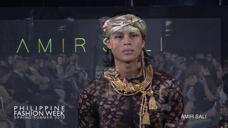 Philippine Fashion Week Spring Summer 2019 AMIR SALI