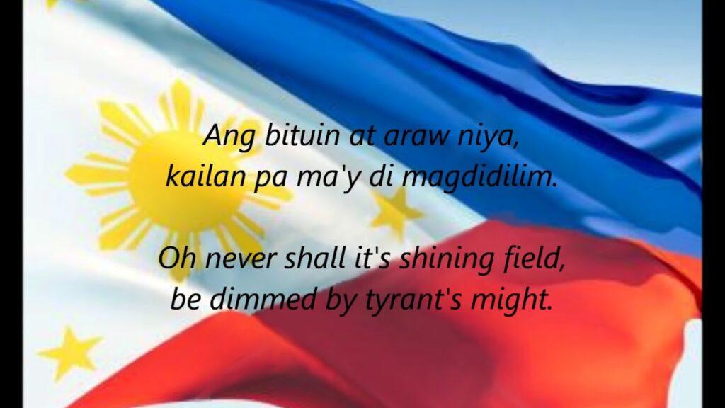 """Philippine National Anthem – """"Lupang Hinirang"""" (TL/EN)"""