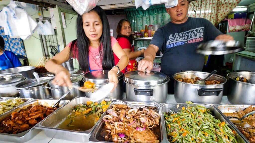 Philippines Street Food – AMAZING Filipino Food at Aling Sosing's Carinderia in Manila!