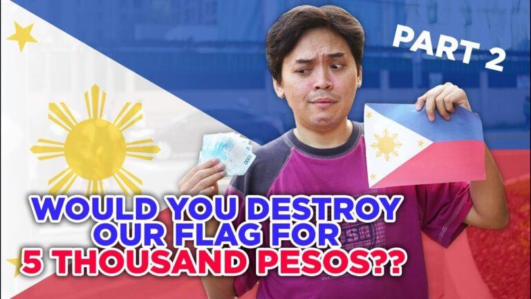 Social Experiment: Destroying Filipino Flag For 5k Pesos | HumanMeter