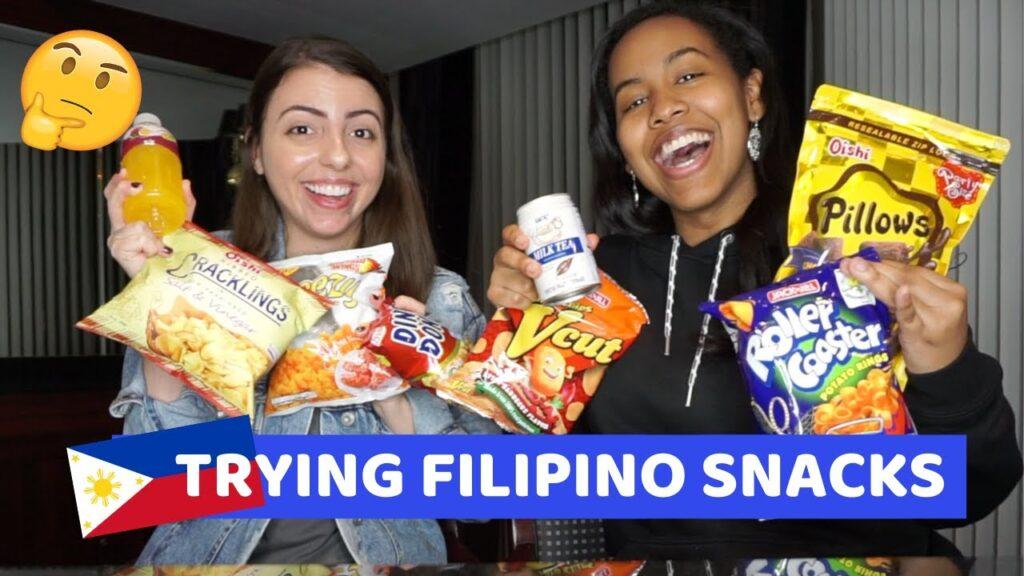 TRYING FILIPINO SNACKS PT 2 (MUKBANG)