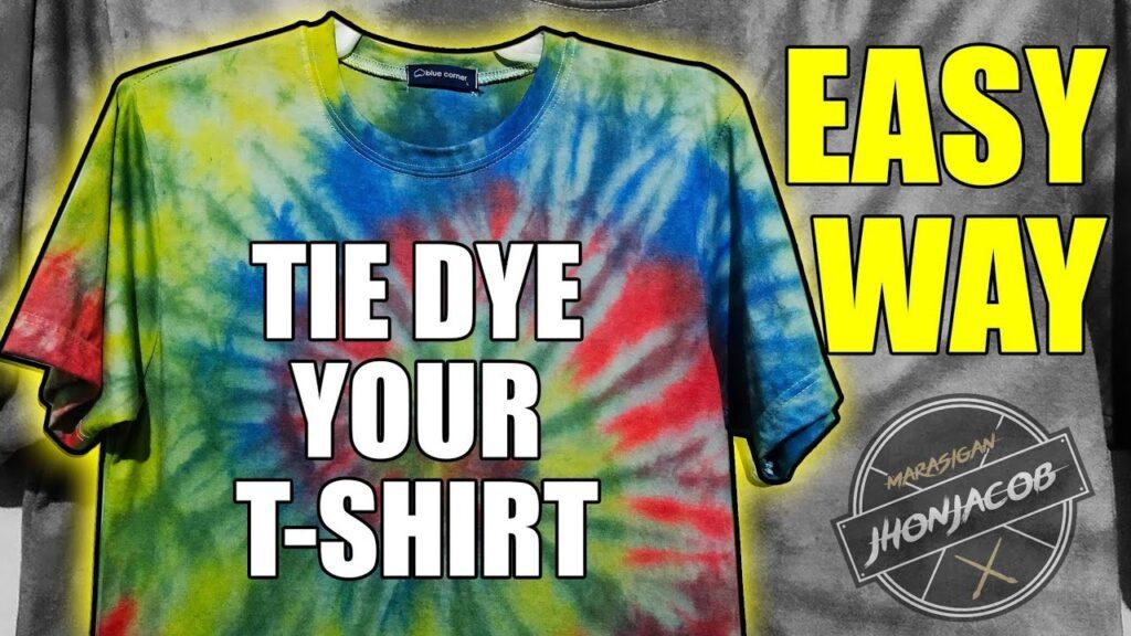 Tie Dye your shirt (Filipino version)