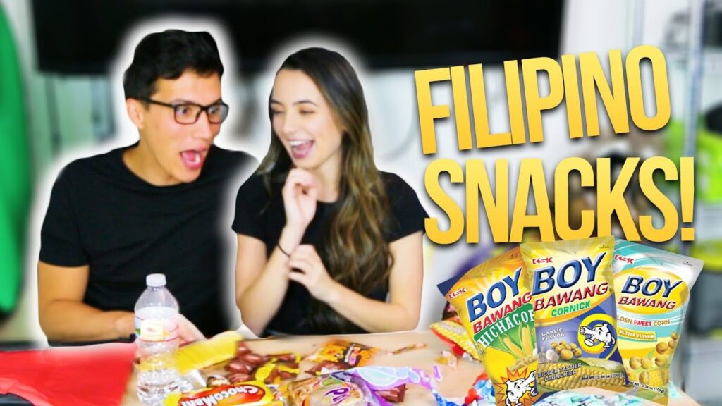 Trying Filipino Snacks!! Her First Time!!