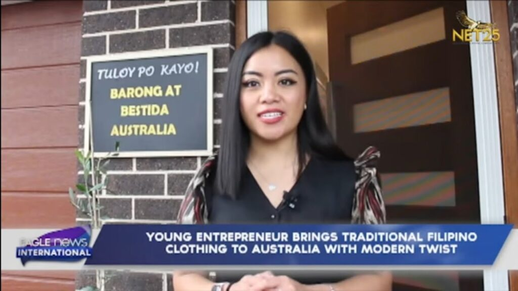 Young entrepreneur brings traditional Filipino clothing to Australia with modern twist