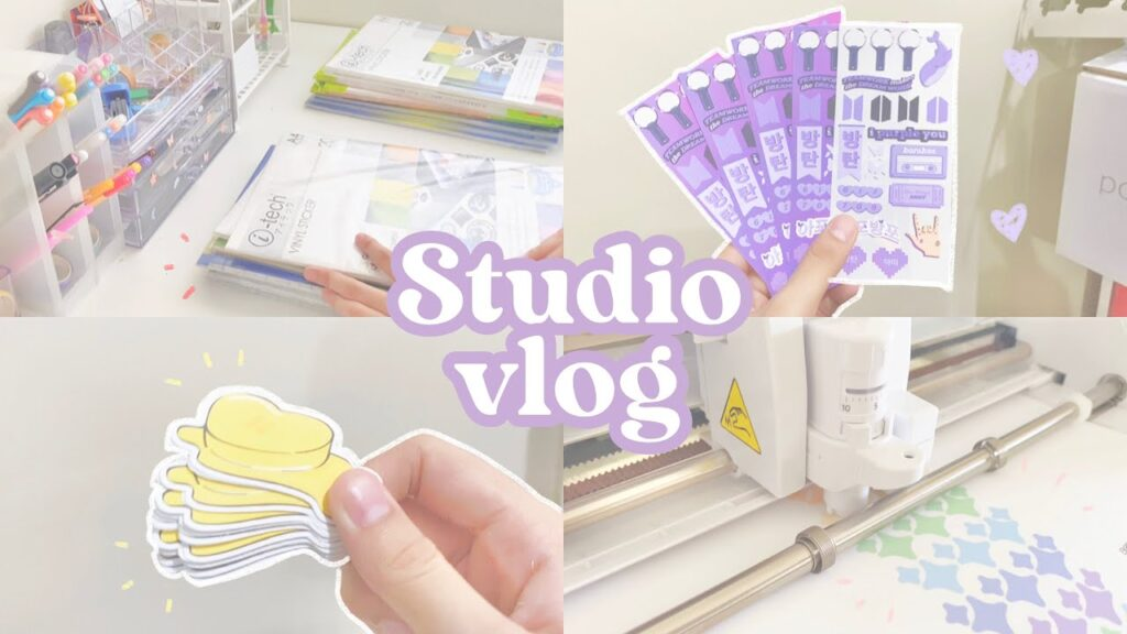 🌷 studio vlog #10 | sticker supplies & trying to make stickers + trials & mistakes ( philippines )